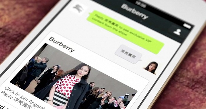 Luxury Fashion Brands Find Home On WeChat