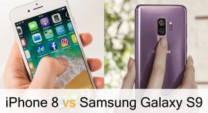 survey iphone 8 vs samsung s9